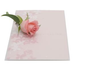 結婚式の招待状とバラの写真素材 [FYI00044504]