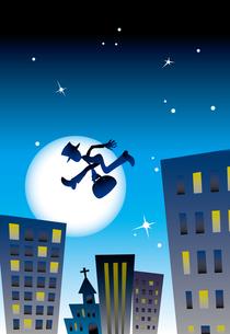 夜の街と泥棒の写真素材 [FYI00044647]