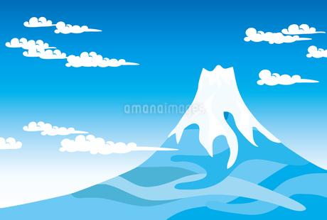 青空と富士山の写真素材 [FYI00044713]
