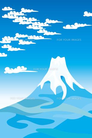 富士山と青空の素材 [FYI00044722]