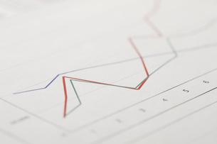 売上のグラフの写真素材 [FYI00045124]