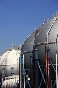 ガスタンクの写真素材 [FYI00045576]