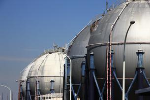 ガスタンクの写真素材 [FYI00045577]