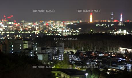 夜景 家の写真素材 [FYI00045985]