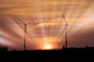 風力発電の写真素材 [FYI00046034]