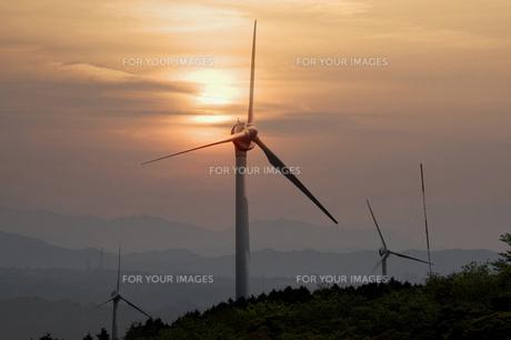 風力発電の写真素材 [FYI00046075]