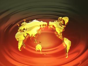 黄金の世界地図の写真素材 [FYI00046721]