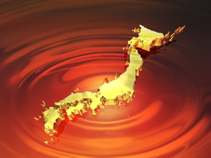 黄金の日本列島の写真素材 [FYI00046734]