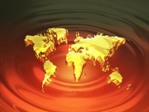 黄金の世界地図の写真素材 [FYI00046740]