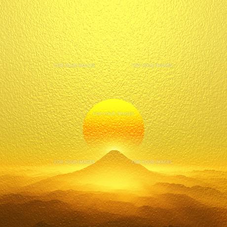 富士山の日の出の写真素材 [FYI00047927]