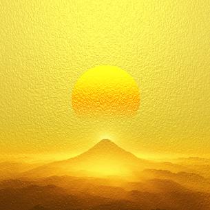 富士山の日の出の写真素材 [FYI00047935]