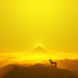 富士山と馬の写真素材 [FYI00047944]