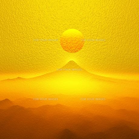 富士山の日の出の写真素材 [FYI00047945]