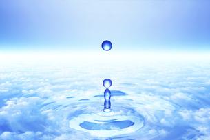 波紋と水滴の写真素材 [FYI00048045]