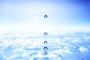 波紋と水滴の写真素材 [FYI00048055]