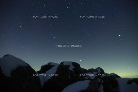 北八ヶ岳 高見石の星の写真素材 [FYI00048383]