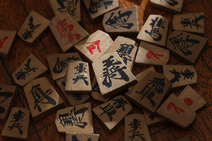 将棋の駒の写真素材 [FYI00049425]