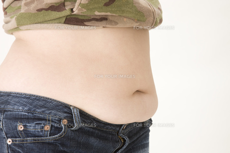 女性のお腹の写真素材 [FYI00049809]