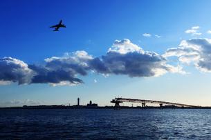 城南島から見た羽田空港の写真素材 [FYI00050639]