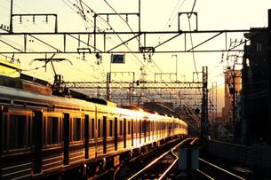 nightbound trainの写真素材 [FYI00051013]