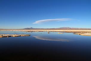 傘雲のかかる山の写真素材 [FYI00051045]