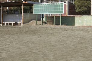 野球場の得点板とグラウンドの写真素材 [FYI00051108]