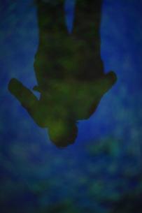 水の中に映り込んだ女性の素材 [FYI00051248]