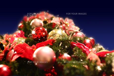 下から見上げたクリスマスツリーの素材 [FYI00051294]