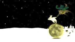 もうすぐ月の昇る時間の写真素材 [FYI00051393]