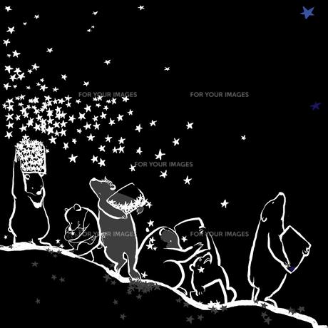減っていく夜空の写真素材 [FYI00051416]