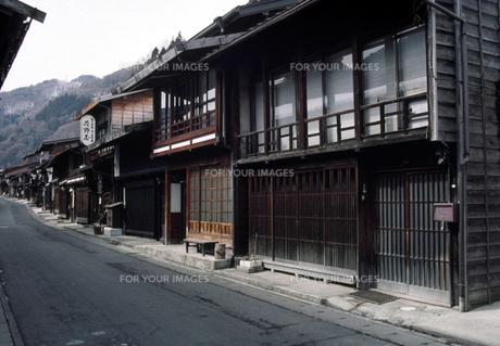 奈良井の風景の写真素材 [FYI00051535]