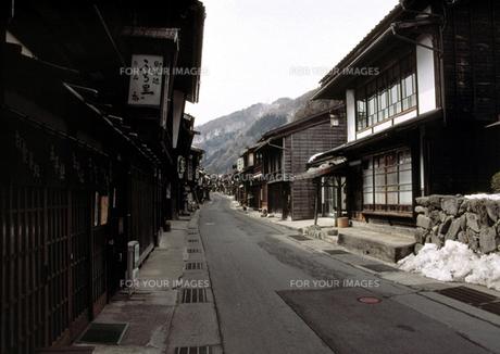 奈良井の風景の写真素材 [FYI00051540]