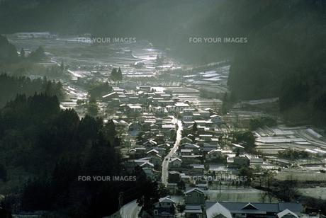 冬の山村の素材 [FYI00051550]