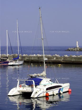 マリーナのヨットの写真素材 [FYI00051577]