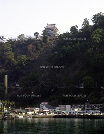 熱海城とマリーナの写真素材 [FYI00051589]