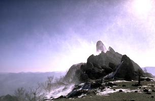 厳冬の山頂の写真素材 [FYI00051626]