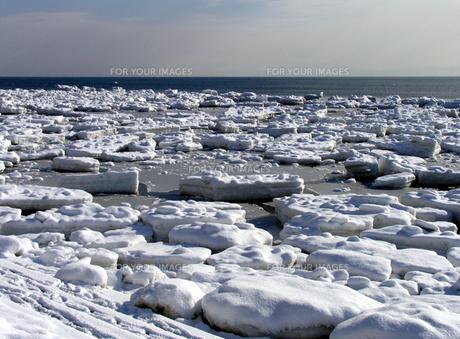 流氷の海の素材 [FYI00051857]