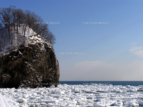 流氷の海の素材 [FYI00051863]