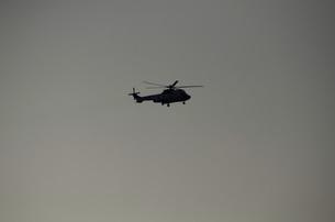 自衛隊のヘリコプターの写真素材 [FYI00052098]