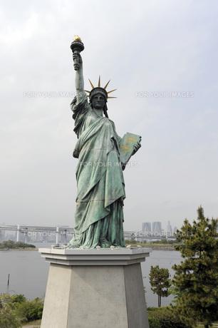 お台場の自由の女神像の写真素材 [FYI00052116]