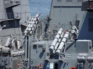 護衛艦の武装の写真素材 [FYI00052686]