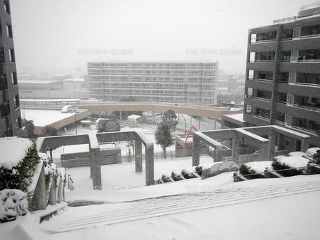 雪の団地の写真素材 [FYI00052744]