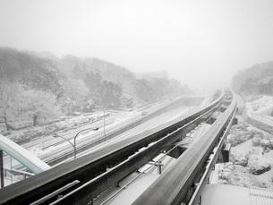 雪の軌道の写真素材 [FYI00052752]