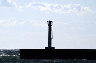 空と灯台の写真素材 [FYI00052794]