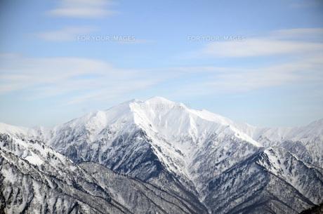 冬の谷川岳の素材 [FYI00053074]
