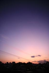 朝の空の写真素材 [FYI00055023]