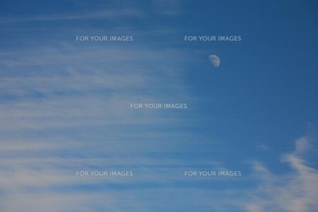 空と雲と月の素材 [FYI00055621]