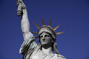 自由の女神の顔アップの写真素材 [FYI00056390]