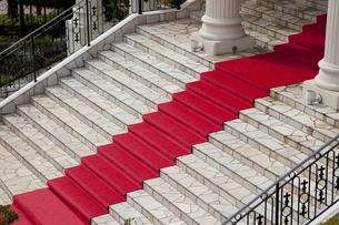 赤い絨毯の写真素材 [FYI00056460]