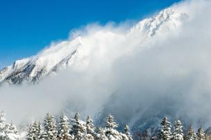 冬の穂高連峰の写真素材 [FYI00057203]